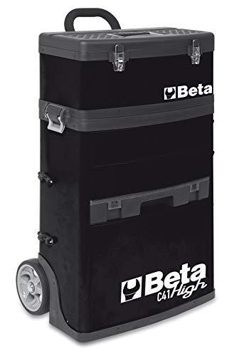 Beta C41H Werkzeugwagen/Trolley mit zwei stapelbaren Modulen, leerer Werkstattwagen für Werkzeug (großer Werkzeugkasten auf Rollen, äußerst robust und gewichtsreduziert, mit Teleskopführungen), Orange