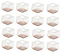 Maydahui 椅子脚カバー シリコーン椅子の脚プロテクター(16個セット 角脚用-56-61mm 家具の椅子脚に適合し)イス足カバー 椅子あしカバー 正方形型 四角形 騒音 床傷防止 滑り止め 家具保護 簡単取付