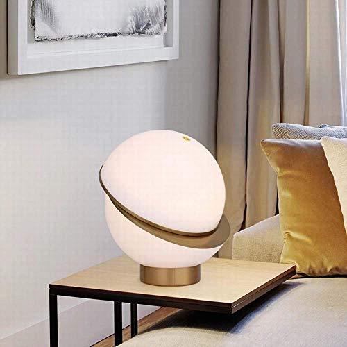 YANQING Duurzame moderne minimalistische bolvormige glazen studielamp woonkamer Master kamer Villa Hotel balie Lamp 30 * 37cm oplichting leven