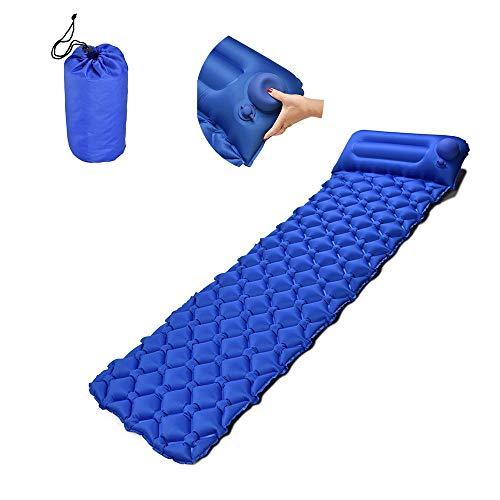 LSJA0 - Colchoneta de camping ultraligera, colchoneta hinchable resistente a la humedad con cojín, adecuada para mochilas, senderismo