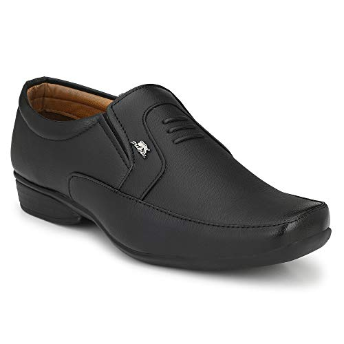 Stylelure Men's Synthetic Leather Black Formal Shoes for Men