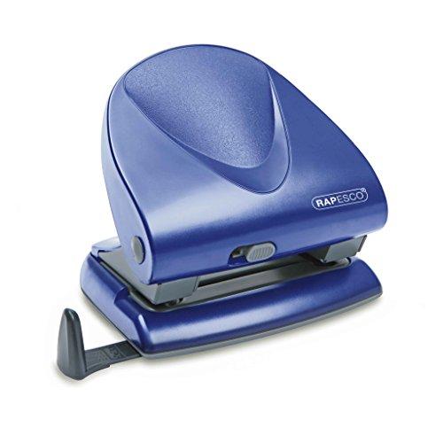 Rapesco P-830 - Perforadora de 2 Agujeros y 40 hojas de capacidad, color Azul