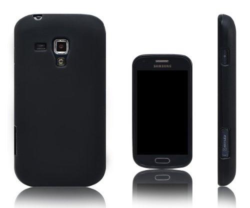 Xcessor Vapour Custodia per Samsung Galaxy S Duos s7562 / Trend s7560. Flessibile TPU Gel. Nero