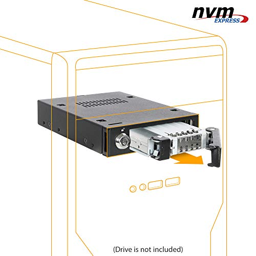 "ICY DOCK 2.5"" NVMe U.2 SSD Mobile Rack for External 3.5"" Drive Bay - ToughArmor MB601VK-B"