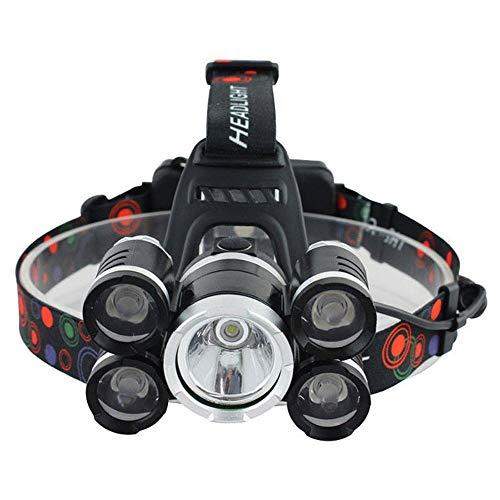 WPCBAA schijnwerper 40000 lumen schijnwerper 5 * T6 LED schijnwerper zaklamp Lanterna schijnwerper met 18650 batterij