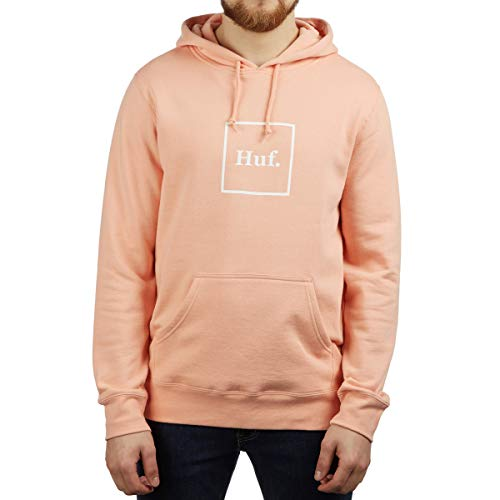 HUF, Sweat hood box logo, Coral pink - XS