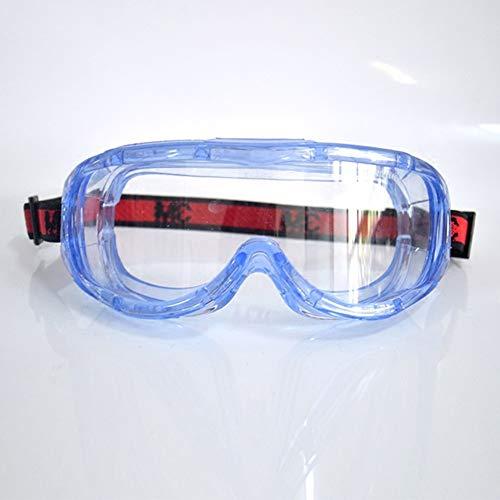 Schutzbrille Medizinisch Transparent - Einstellbar - Anti Nebel Staubdicht Spritzfest Schlagfestigkeit - zum Chemie Labor Arbeitsplätze - Augenschutz