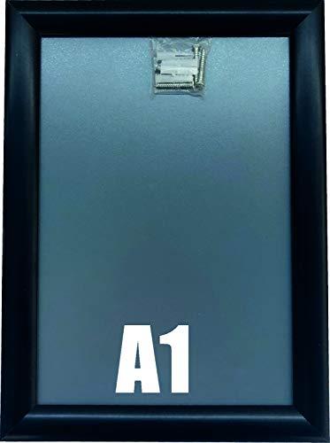 Warenfux24 (DIN A1) Aluminium Klapprahmen schwarz, Plakatrahmen, Wechselrahmen, 625 x 870 mm