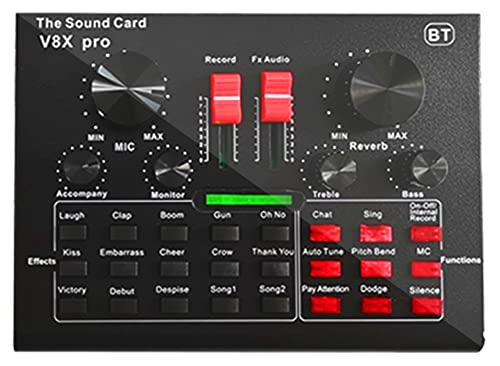 XIRENZHANG Tarjeta de sonido en vivo, paquete de micrófono de condensador, brazo de tijera ajustable de micrófono, montaje de impacto de metal, soporte para tarjeta de sonido, tarjeta de sonido