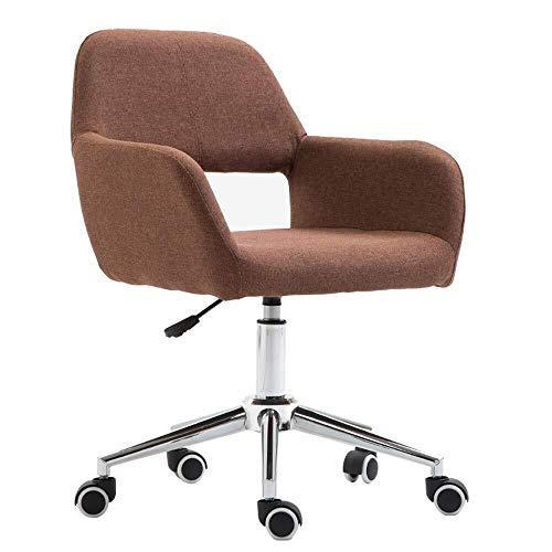 Scra AC Sedia Computer con puleggia, Regolabile Altezza, Girevole Home Office Lounge Chair (Color : Brown)