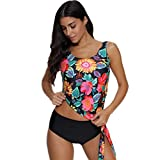 NPRADLA Damen Mädchen Bandeau Bandage Bikini Set Push-Up Brasilianische Badebekleidung Beachwear Badeanzug