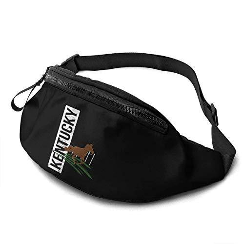 AOOEDM Waist Bag for Men Women, Derby Kentucky Horse Racing Horse Casual Outdoor Waist Bag for Workout Travel Hiking