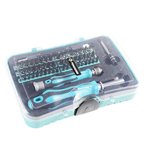 Juego de destornilladores de precisión para reparación de iPhone, portátil, smartphone, MacBook y Xbox, 53 piezas