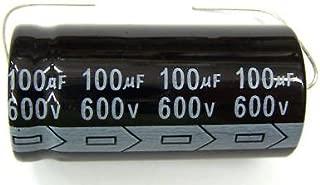 MIEC Qty 2 100UF 600V 105C Axial Electrolytic Capacitors
