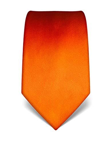 Vincenzo Boretti Corbata de hombre en seda pura, uni naranja neón