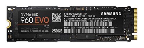 『Samsung SSD 250GB 960EVO M.2 Type2280 PCIe3.0×4 NVMe1.2 3年保証 エコPKG 正規代理店保証品 MZ-V6E250B/EC』のトップ画像