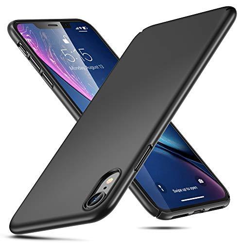 Eono Essentials Funda para iPhone XR, Funda Rígida Negra de TPU Delgado Absorbe los Golpes [Ultra-Delgada y Alta Protección] para iPhone XR, Negro