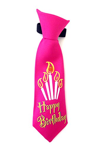 Outlook Design Party Gadget muziek cravattina Sonora voor fles met melodie Happy Birthday, stof, roze, 16,50 x 4,50 x 2,50 cm