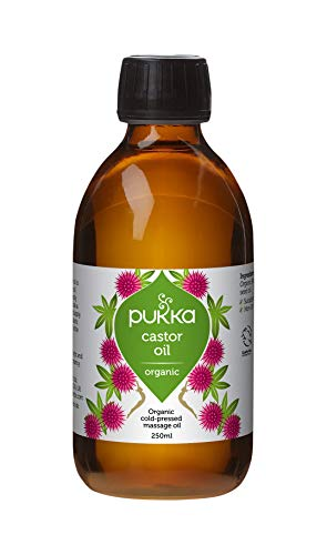 Pukka Herbs Organic Cold Pressed Castor Oil, 100% Pure and Natural, Hexane Free, 250 ml