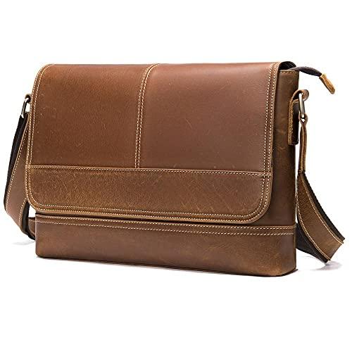 Couverture de sacs de documents officiels pour hommes Paquet Paquet de poêle de poche 13,3 pouces sac à bandoulière-marron