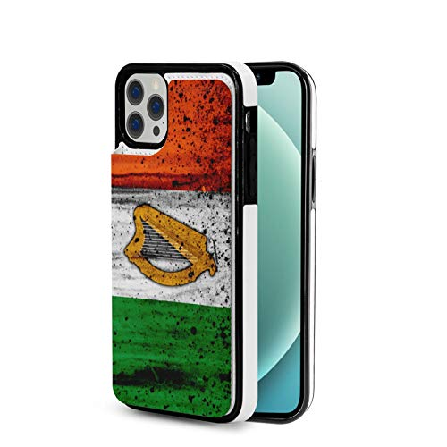 Phone Case Celtic Harp Irish Flag iPhone 12/12 Pro/12 Pro Max /12 Mini(2020),TPU +Pu Full Body Shockproof Drop Protection Leather Case