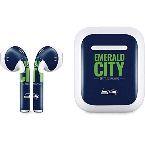 Skinit Decal Audio Skin for Apple AirPods with Lightning Charging Case - Officially Licensed NFL Seattle Seahawks Team Motto Design