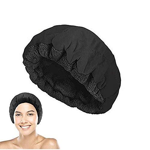 Bonnet chauffant pour cheveux Fonee, bonnet chauffant au micro-ondes, sans fil, soin des cheveux, traitement à l'huile, avec 10 bonnets de douche jetables