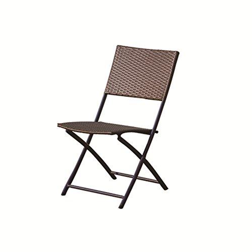 Chenquan CSQ Combinaison de Table et de Chaise de rotin, Se Pliant Facile pour Porter Le Balcon extérieur de café de Cour de Cravate Yi Table de Loisirs et Combinaison de Chaise Table de thé