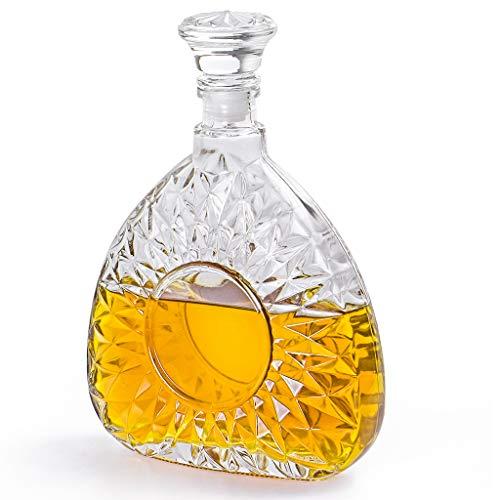 MDLUU - Decanter in vetro con tappo ermetico, per whisky, brandy, Scotch, borbon, 750 ml