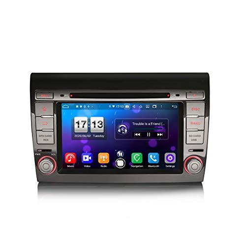 ERISIN 7 pollici Android 10.0 Autoradio per Fiat Bravo Supporto GPS Sat Nav Carplay Android Auto DSP Bluetooth Wifi 4G DAB + TPMS DVB-T / T2 8-core 4GB RAM + 64GB ROM