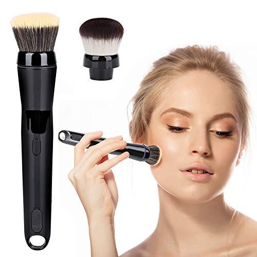 Pinceau de maquillage électrique, pinceau de maquillage rotatif à 360 degrés avec fond de teint et pinceau pour le visage