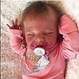 Todo el Cuerpo Silicona Vinilo Suave Silicona 18 Pulgadas / 46cm renacido bebé muñeca Durmiente Realista recién Nacido Realidad bebé,Girl