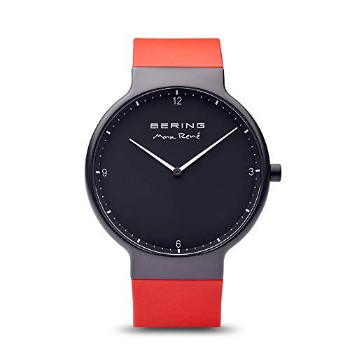 BERING Herren Analog Quarz Uhr mit Silikon Armband 15540-523