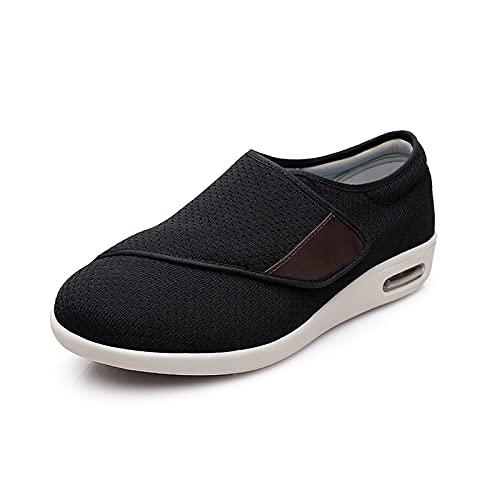 WWG Menores De Mujer Zapatos Diabéticos Ajustables, Zapatos De Edema Malla Transpirable Zapatillas De Deporte De Caminatas Ligeras para Diabéticos, Ancianos, Pies Hinchados, Fascitis Plantar,B,49