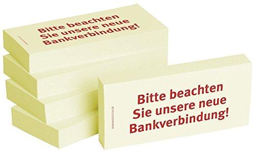5 x 100er Block Haftnotizen  Bitte beachten Sie unsere neue Bankverbindung!
