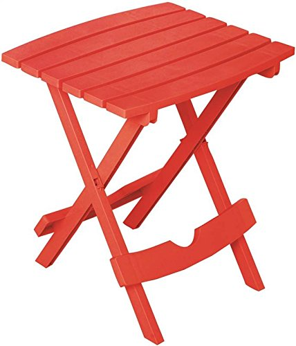 "Adams Quik Fold Side Table 19.75"" H X 15.25"" W X 17.375"" D Cherry Red 25 Lb. Capacity"