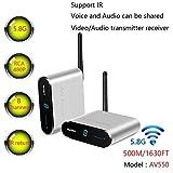 sans Fil 5,8 GHz 8 canaux TV Audio vidéo AV transmetteur émetteur et récepteur avec télécommande IR 500 m/496,8 m Longue portée