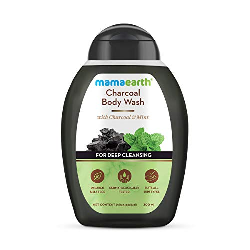 Mamaearth Charcoal Body Wash With Charcoal & Mint for Deep Cleansing, Shower Gel For Men – 300 ml