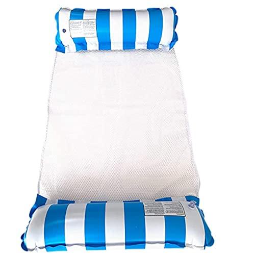 XVBN Cama Flotante de la Piscina de Verano, reclinable Inflable, Silla Flotante, Adulto Individual y niños están Disponibles Blue
