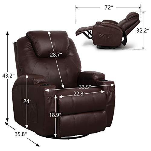 Esright Heated Massage Recliner Chair
