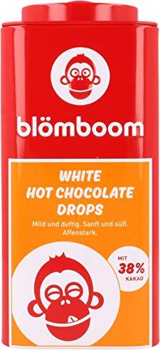 Blömboom White Hot Chocolate Drops, Weiße Schokoladendrops zum Trinken, BIO, Dose (200g)