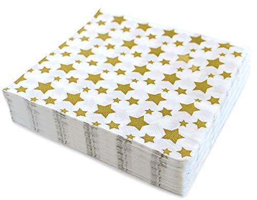 Servilletas de papel desechables de 6,5 pulgadas, cuadradas para almuerzo de Navidad, cena de vacaciones, bufé, fiestas de Navidad, cumpleaños divertido, boda, paquete de 40