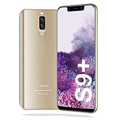 "Unlocked Cell Phones?4G Unlocked Smartphone, Unlocked Smartphone? 5.9"" Waterdrop Full-Screen Phones, with 32GB Android 9.0 OS?4200mAh? Dual SIM +Micro-SD Slot?Face Unlock, US Version - Golden"