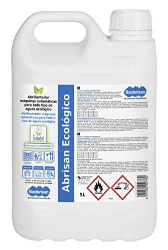 Bacterisan Abrisan Ecológico 5L | Abrillantador De Máquinas Profesional | Producto Ácido Para Mejorar El Lavado De Vajillas Y Cristalerías| Brillo Y Limpieza | Ecolabel: Es-Eu/038/00001 5 ml