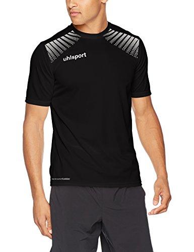 uhlsport Herren Goal Polyester Training T-Shirt, Schwarz/Weiß, 164
