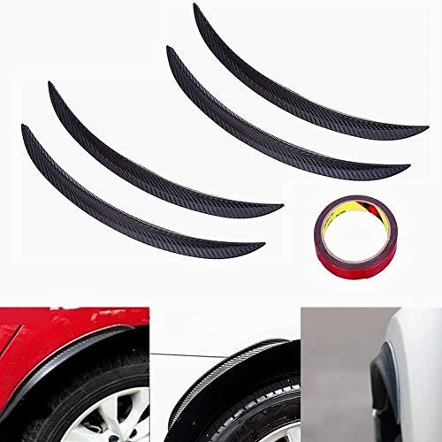 4 Stück Auto Kohlefaser Radlaufleiste Kotflügel Universal Radlauf Schutzleisten Verbreiterungen Leiste Gummi Streifen, 33cm