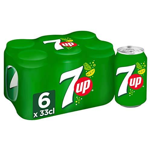 7UP Soda au Citron aux Extraits de Citron/Citron Vert canettes 6 x 33 cl