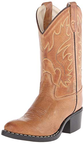 Old West Kids Boots J Toe Western Boot (Toddler/Little Kid) Tan Canyon 11 Little Kid