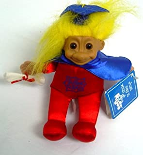 Russ Supergrad Caped Yellow Haired Troll Doll 8