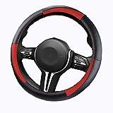 WYKDL YYDGQ Rutschfeste Raute Abdeckung für Fahrzeuge Lenkradbezüge Universal Größe Lenkradbezüge Universal Universal Größe 37-38 cm (Schwarz)